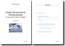 Projet personnel et professionnel: les poursuites d'études envisagées