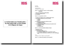 La modernisation de l'hôpital public : du plan hôpital 2007 au plan hôpital 2012 (Rapport de stage)