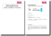 Rapport de stage effectué au sein d'un cabinet d'avocats : fusions - acquisitions - financement