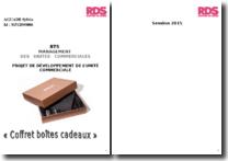 Projet de Développement de l'Unité Commerciale (PDUC) - Coffret boites cadeaux