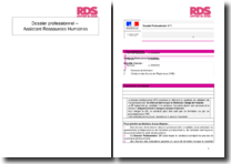 Dossier professionnel - Assistant Ressources Humaines