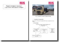 Rapport de stage en logistique - L'optimisation des coûts de transport