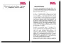 Bilan de formation du Brevet d'Aptitude aux Fonctions de Directeur (BAFD)